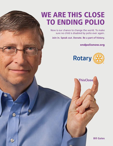 We are THIS CLOSE to ending Polio